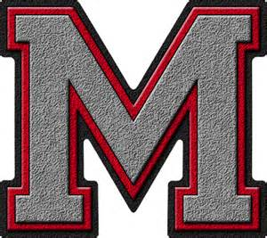 To M Presentation Alphabets Silver Varsity Letter M