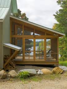 Rv Awning Side Panels Vermont Lake House Rustic Porch Burlington By Jean