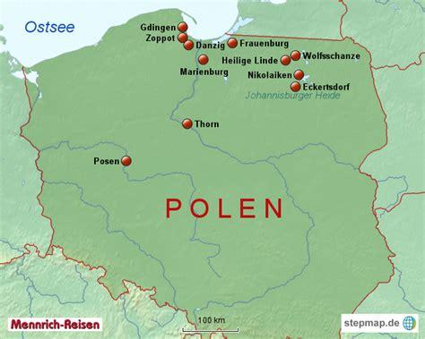 Motorrad Fahren Polen by Polen Masuren Mennrich Landkarte F 252 R Mitteleuropa