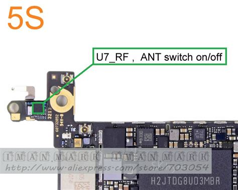 Ic Rf Iphone 5s original logic board u7 rf ic for iphone 5s ant antenna