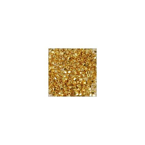 hex cut seed miyuki delica japanese seed bead hex cut 11 0 24kt gold plated
