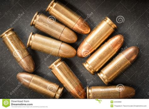 bullet for a 9mm bullet for a gun stock photo image 52633868