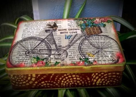 Decoupage For Beginners At Home - vintage decoupage on altered tin beginners decoupage