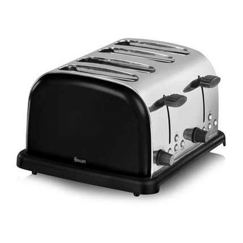 Swan Toaster Swan 4 Slice Black Toaster St14020blkn Buy At Qd