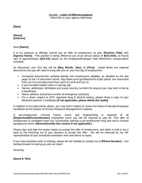Offer Letter Contingent Upon Background Check Offer Letter Format For Business Development Manager Letter Format 2017