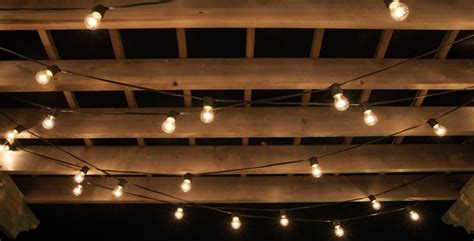 Lighted Pergola For Patio And Decks Contemporary String Lights On Deck