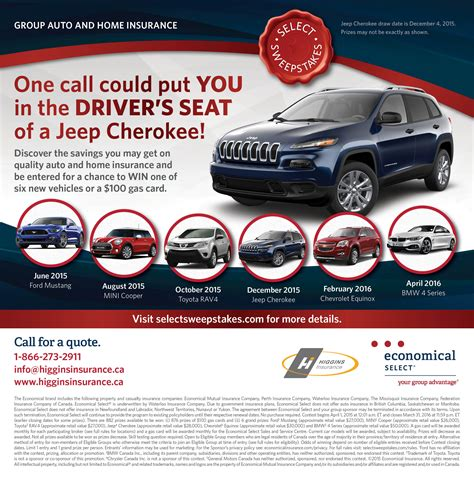 Sweepstakes Insurance - group home and auto insurance cupe 1431