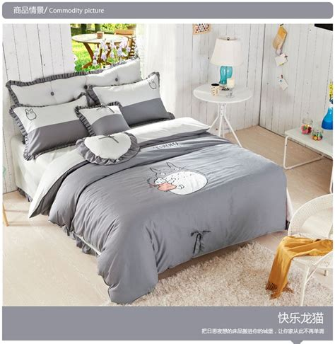 totoro bed set aliexpress com buy good quailty 100 cotton korean style