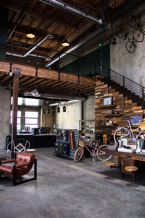 industrial design coffee shop the wheelhouse bringing together bicycles and coffee