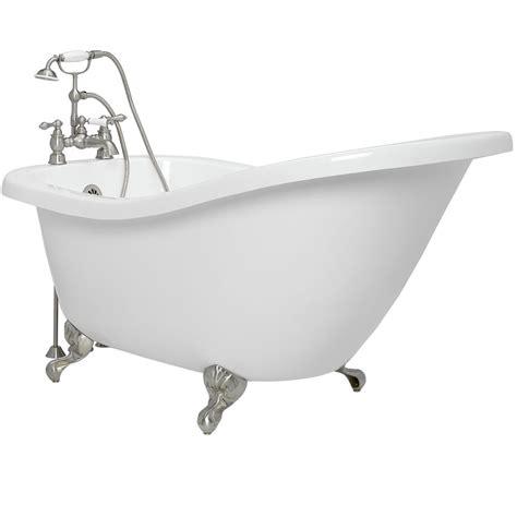 bathtub clawfoot american bath factory 59 quot acrylic clawfoot tub satin
