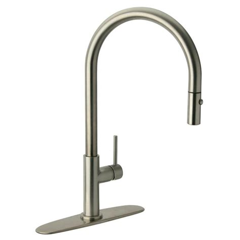 glacier bay carmina single handle pull down sprayer kitchen faucet in stainless steel