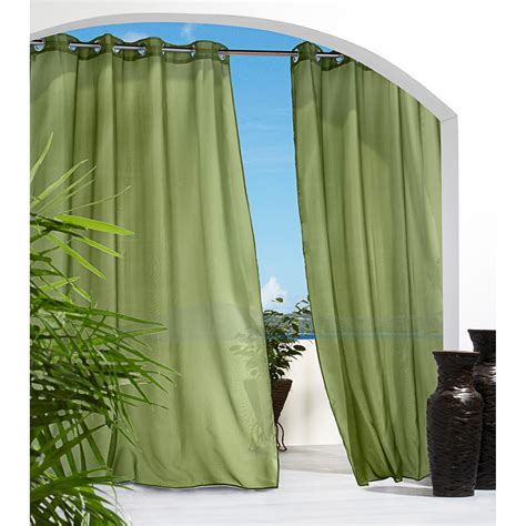 green outdoor curtains indoor outdoor curtains homesfeed
