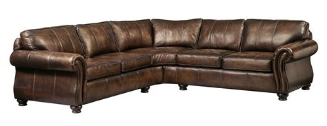leather sectional with large ottoman bernhardt leather sofa roselawnlutheran