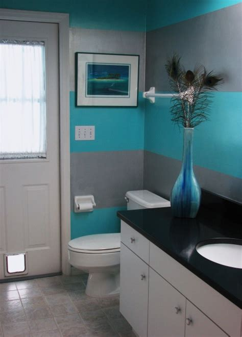 ralph metallic paint tinted silver plate and behr turquoise gem both glazed with behr