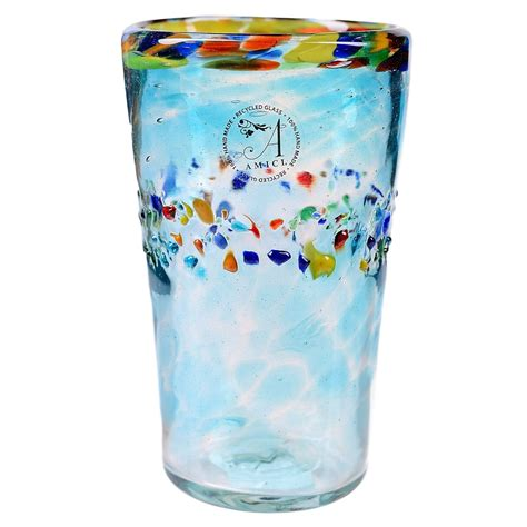 Handcrafted Glassware - global amici sol handmade highball glass recycled