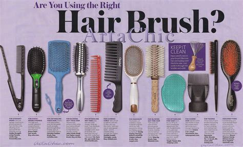 Types Of Hair Combs And Their Uses by Are You Using The Right Combs Brushes For Your Hair