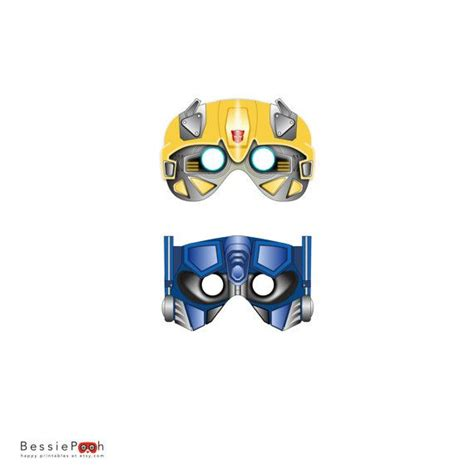 printable bumble bee mask template transformers masks printable pdf file instant download