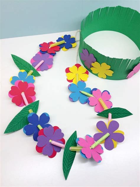 craft for kid craft for hawaiian grass crown flower theme