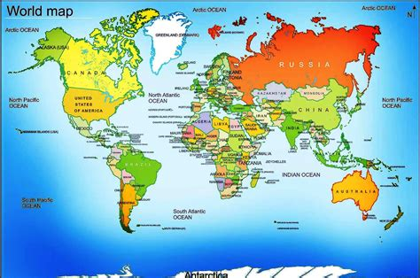the world map detailed map of the world on maps rf