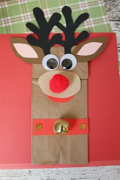 Reindeer Paper Bag Craft - rudolph the nosed reindeer paper bag craft sippy cup