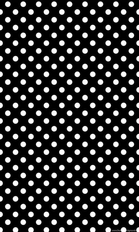 Portable Polka Dots Pattern black and white polka dot wallpapers wallpapers hd