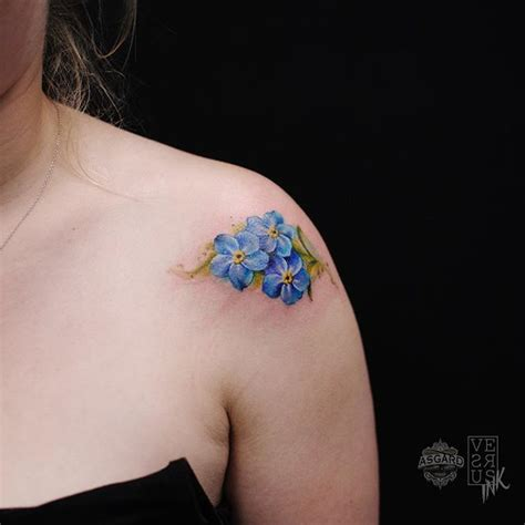 forget me nots watercolor tattoo www pixshark com