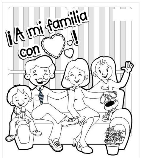 imagenes de la familia urbana para colorear familia09