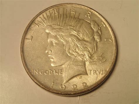 1 dollar silver coin 1922 1922 peace silver dollar coin unc condition 1 ebay