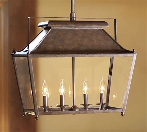 pottery barn kitchen lighting stanyan lantern transitional pendant lighting by