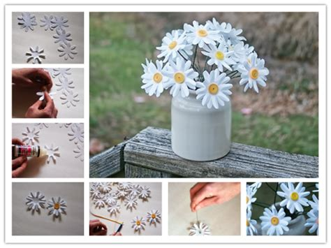 How To Make Decorations For Your Room Out Of Paper - how to make easy paper daisies step by step diy tutorial