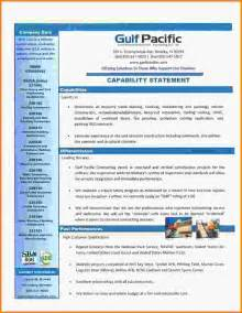 capability statement template capability statement template capability 20statement 20