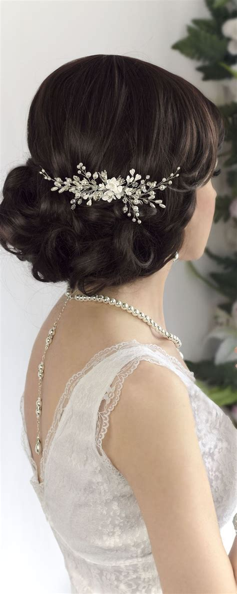 Wedding Hair With Headpiece by Best 25 Wedding Hair Combs Ideas On Headpiece