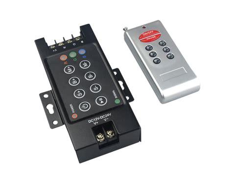 Paket Adaptor Led 5050 Rgb Remote Driver Rgb Besar led rgb controller dc 12 24v 3 channel 360w 8 rf remote dimmer for 5050 3528 rgb led