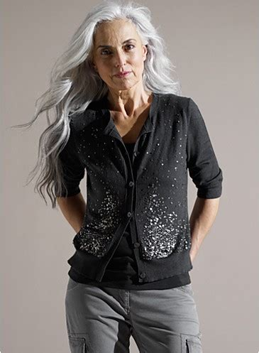 grey hair on ordinary women going grey eileen fisher gray hair and fisher
