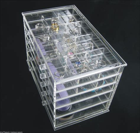 acrylic organizer 5 drawer counter top cosmetic