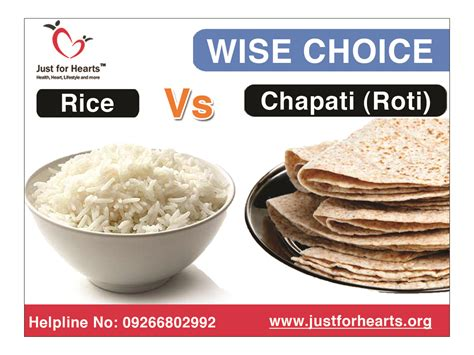 1 chapati carbohydrates what is more healthy rice or chapati