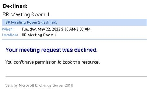 rooms to go exchange policy restricting room mailbox bookings to specific groups in exchange 2010