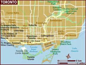 map of us and canada toronto map of toronto