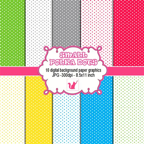 Polka Dot Craft Paper - polka dots clipart with various colors printable craft paper