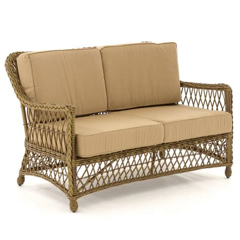 loveseat patio everglades honey resin wicker patio loveseat by lakeview