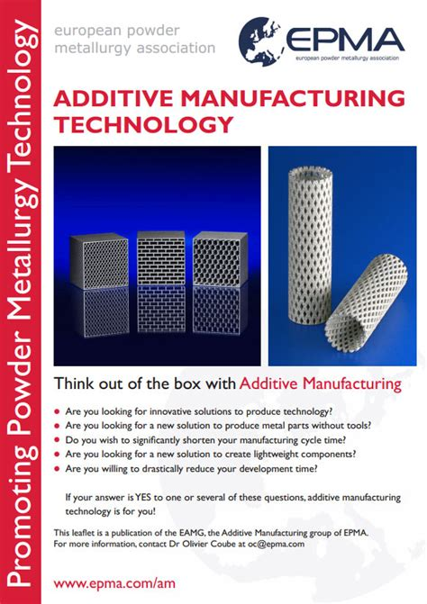 design for additive manufacturing training additive manufacturing technology leaflet european