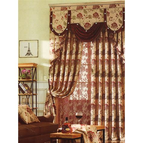 vintage curtain vintage curtains insulated floral patterns no valance