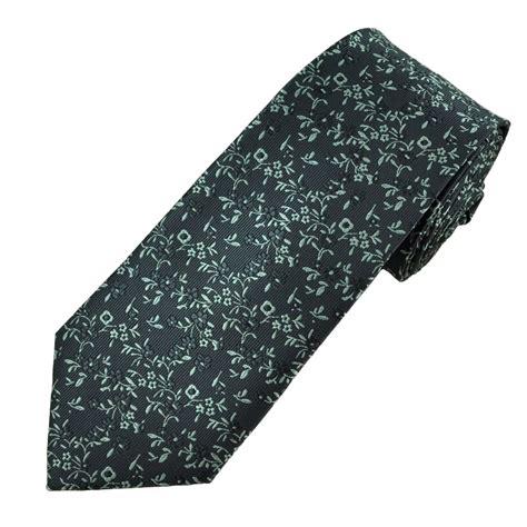 grey pattern tie charcoal grey silver flower patterned men s tie from