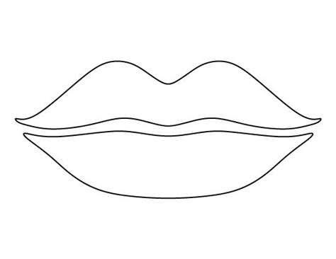 the gallery for gt lips outline