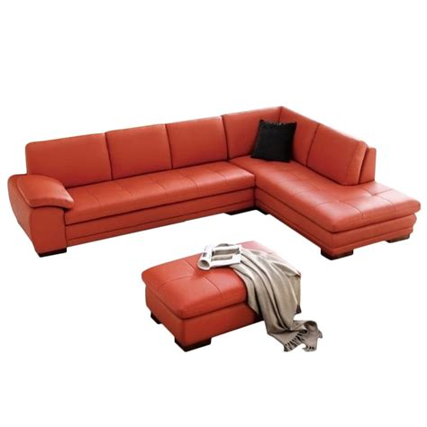 jm upholstery jm furniture right facing leather sectional with ottoman