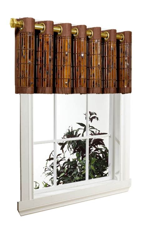 bamboo window curtains tortoise shell bamboo grommet valance