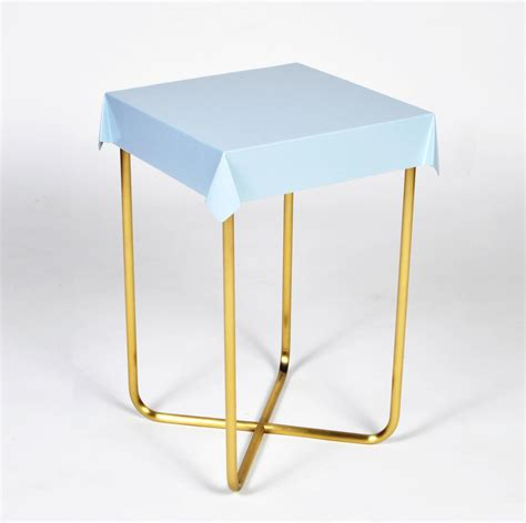 draped table drape side table pink brass for sale at 1stdibs