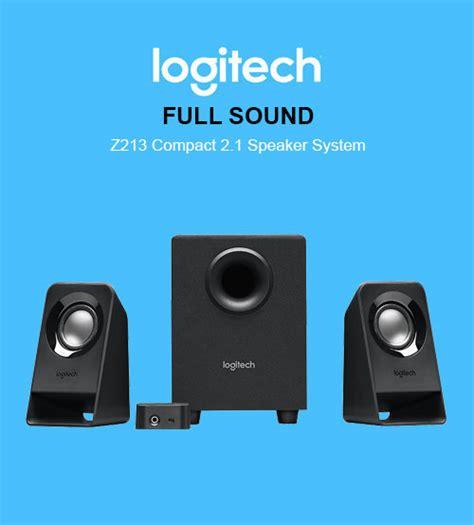 Logitech 2 1 Speaker Z213 logitech sound z213 compact 2 1 speaker system