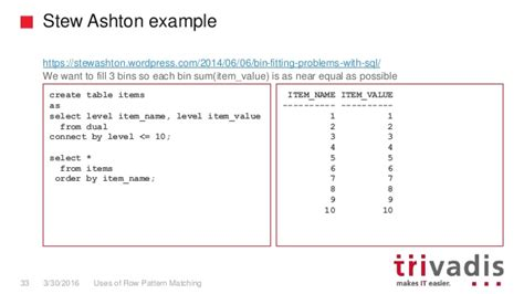 pattern matching not equal uses of row pattern matching