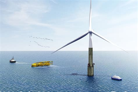 Canary by Elisa Floats Self Installing Offshore Wind Turbine Offshore Wind
